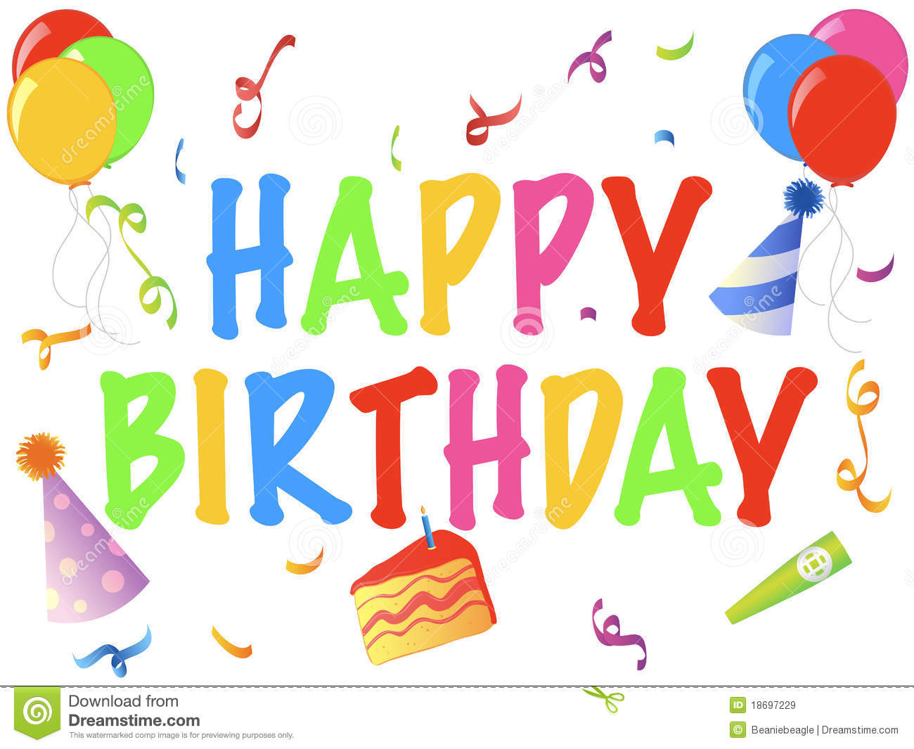 happy birthday banner royalty free stock images  image: 18697229