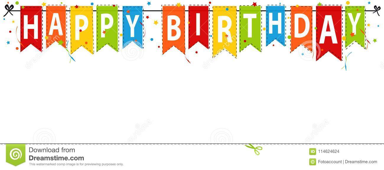 Happy Birthday Banner, Background - Editable Vector ...