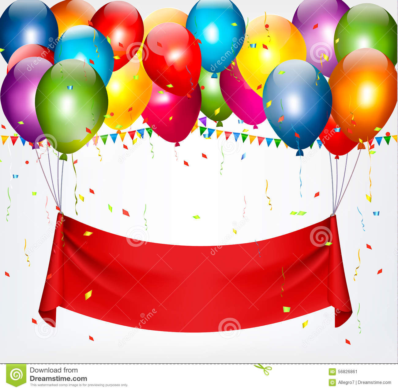 Happy Birthday Banner Background. Stock Vector - Image: 56826861