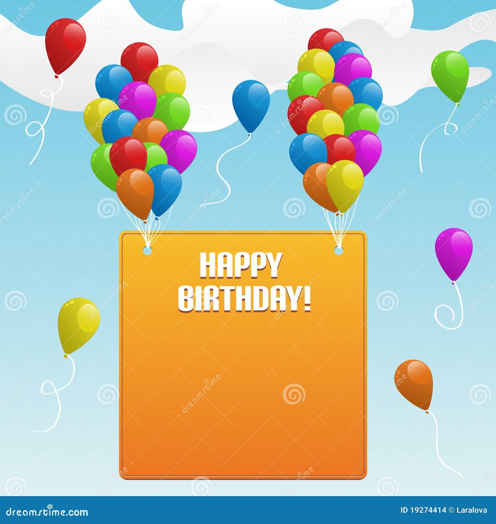 happy birthday banner with balloons illustration 19274414 megapixl