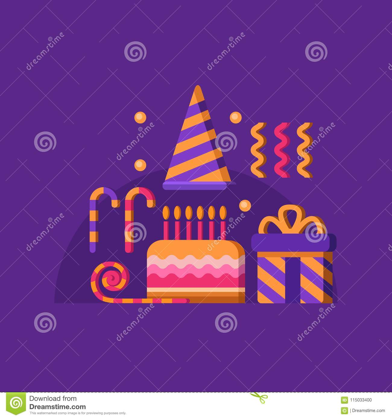 happy birthday banner stock illustration illustration of candy