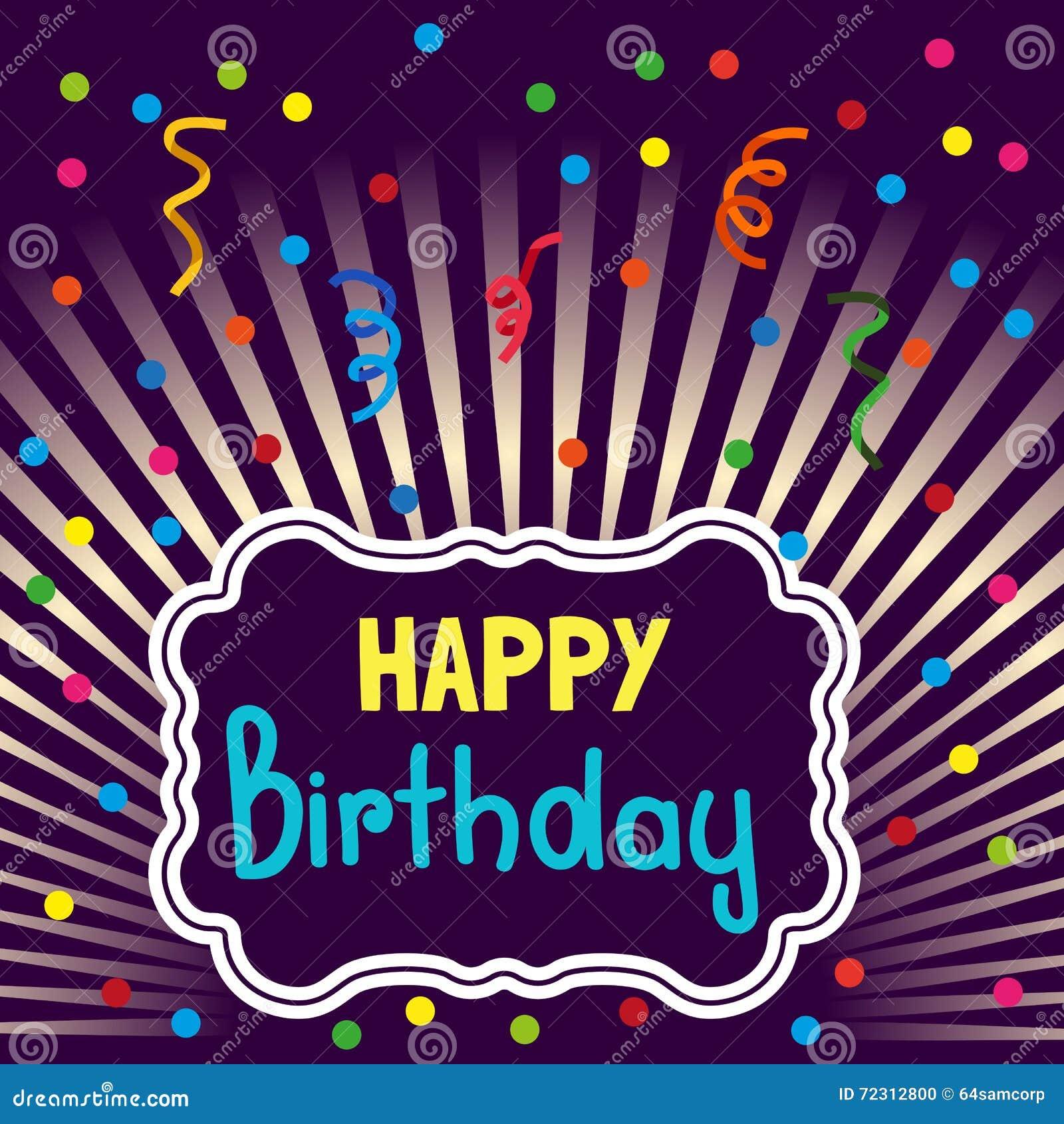 happy birthday banner stock illustration illustration of