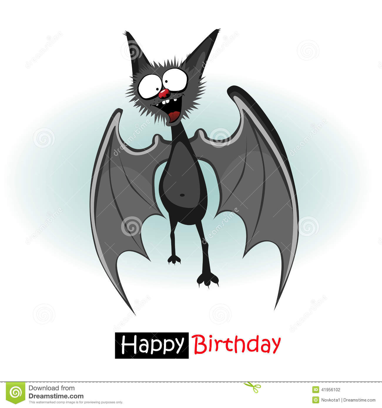 Happy Birthday Bat Smile Stock Illustration Image 41956102