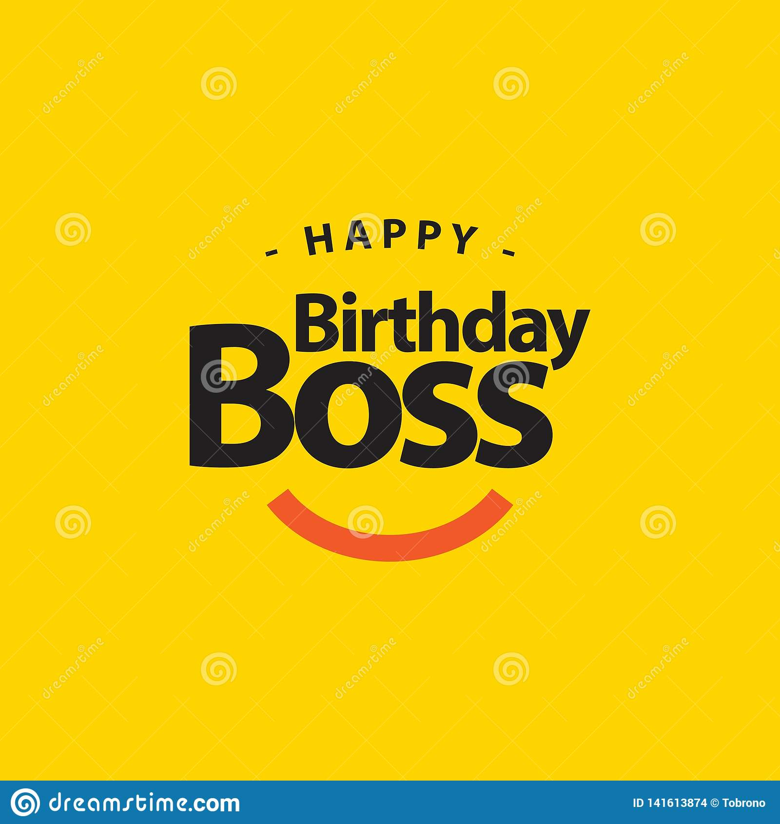 Happy Birthday Boss Vector Template Design Illustration