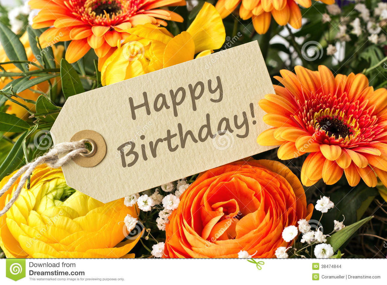 Happy Birthday Stock Photo Image Of Gerbera Happy