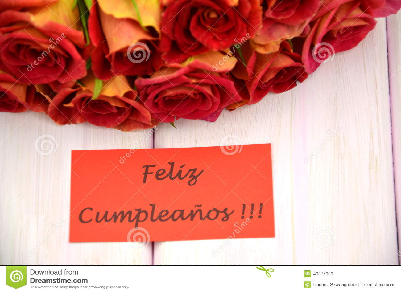 Happy Birthday In Spanish With Roses Quotes