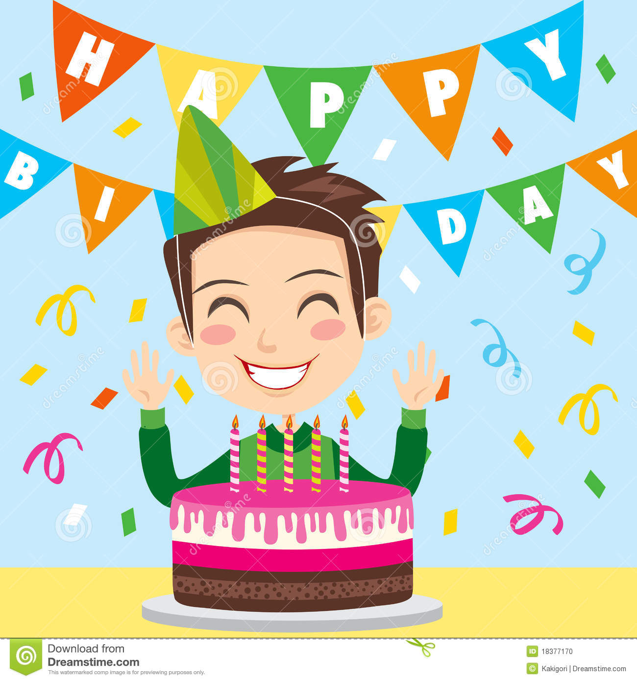 Happy Birthday Boy stock vector. Illustration of human   18377170