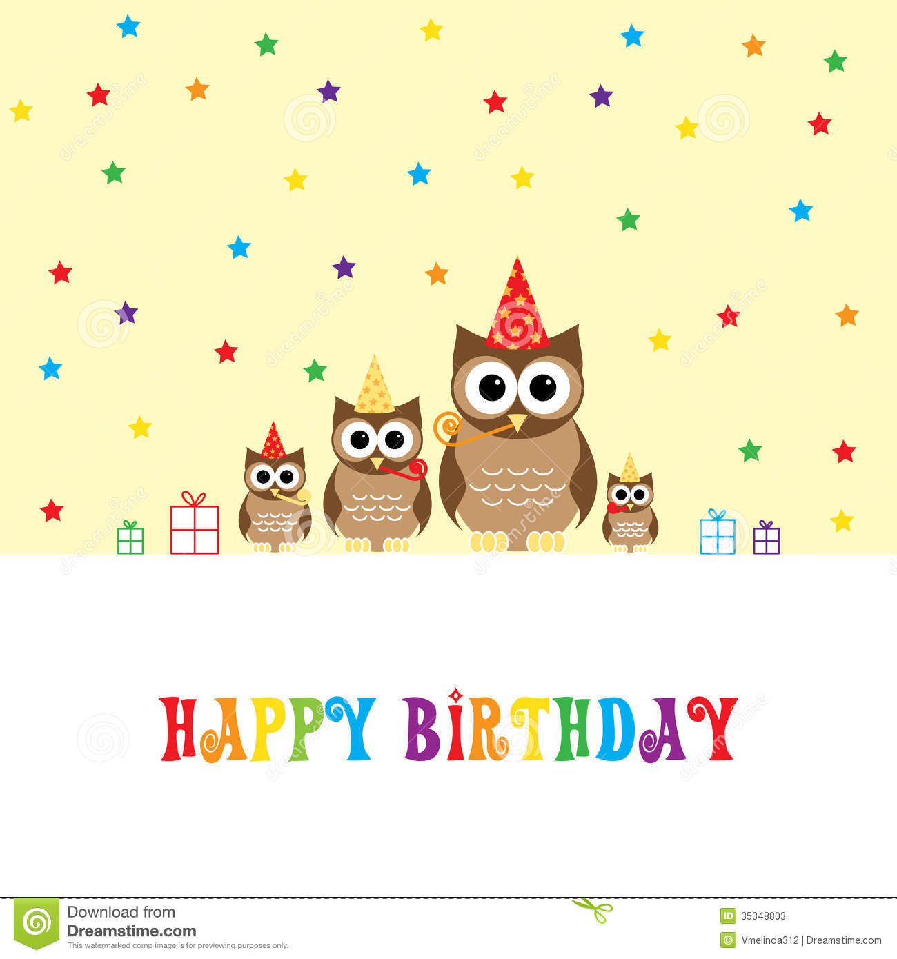 Happy Birthday Stock Vector Illustration Of Colorful