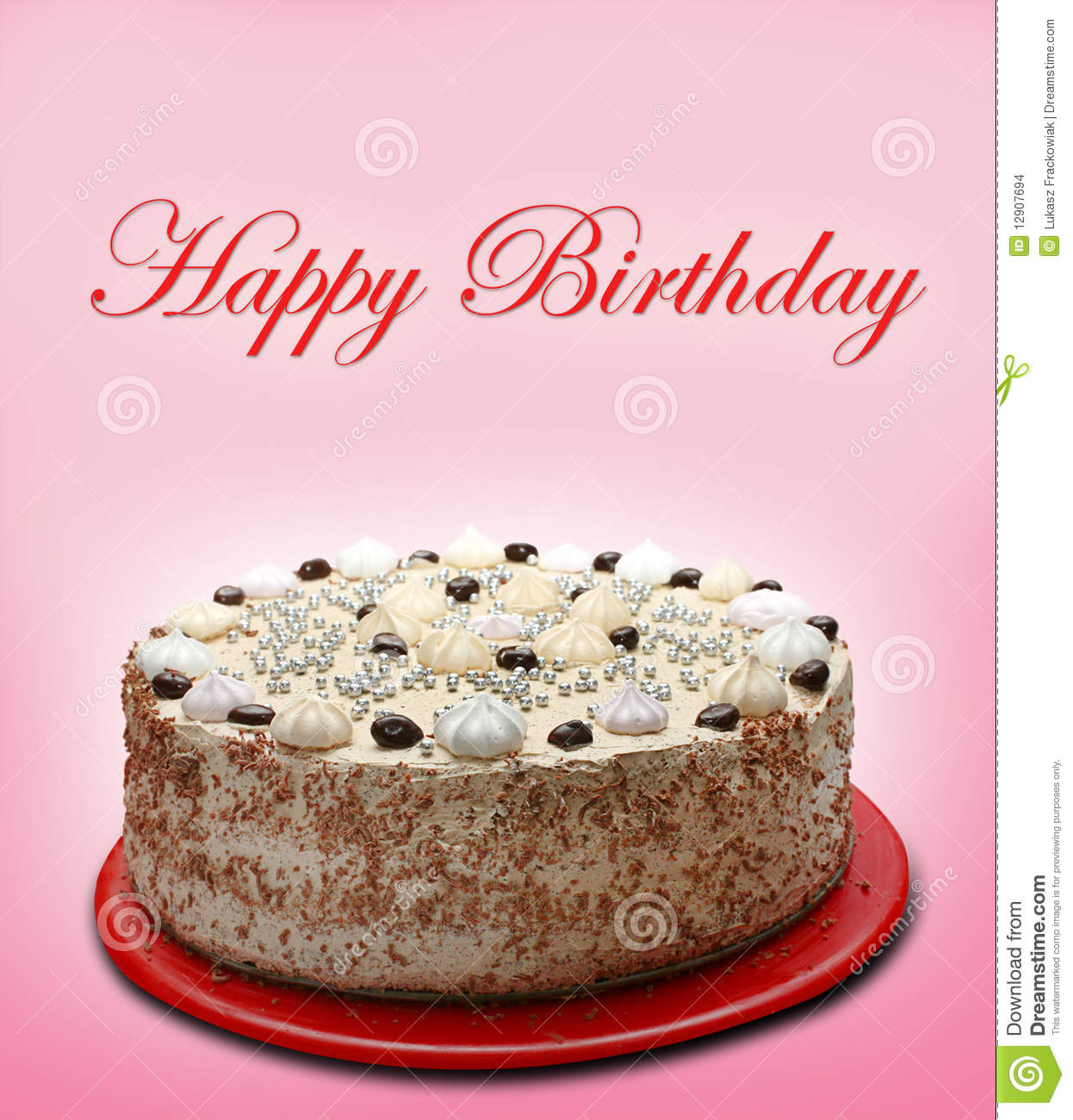 Happy Birthday Cake Stock Photo Image Of Sweet Candy 12907694