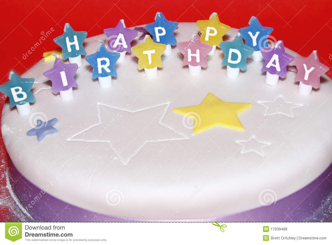 Happy Birthday Cake Stock Image Of Colour Wish