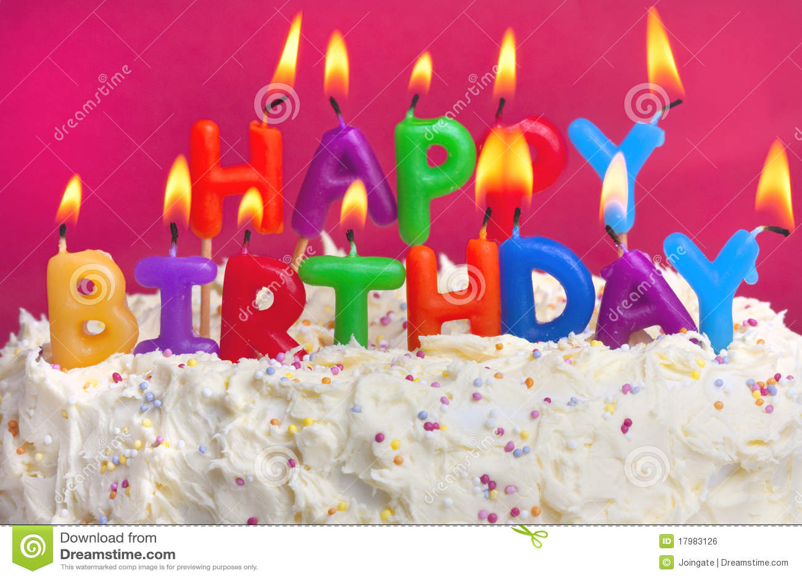 Happy birthday cake stock photo  Image of cake, pink - 17983126