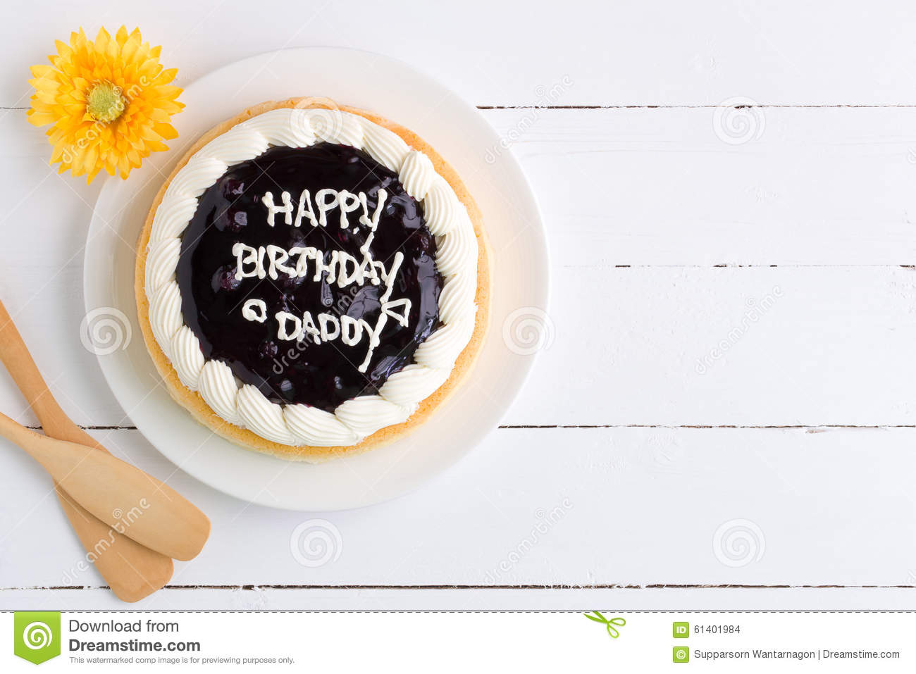 Blueberry Cheese Cake For Daddy Birthday Party