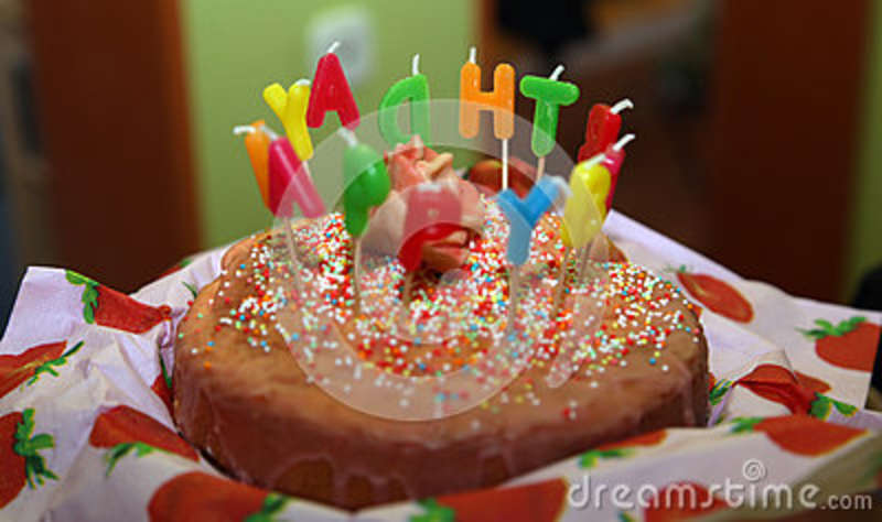 Happy Birthday Cake With Candles Letter Burning 3