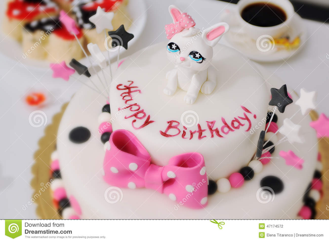 Stupendous Happy Birthday Cake Stock Photo Image Of Marzipan Dish 47174572 Funny Birthday Cards Online Eattedamsfinfo