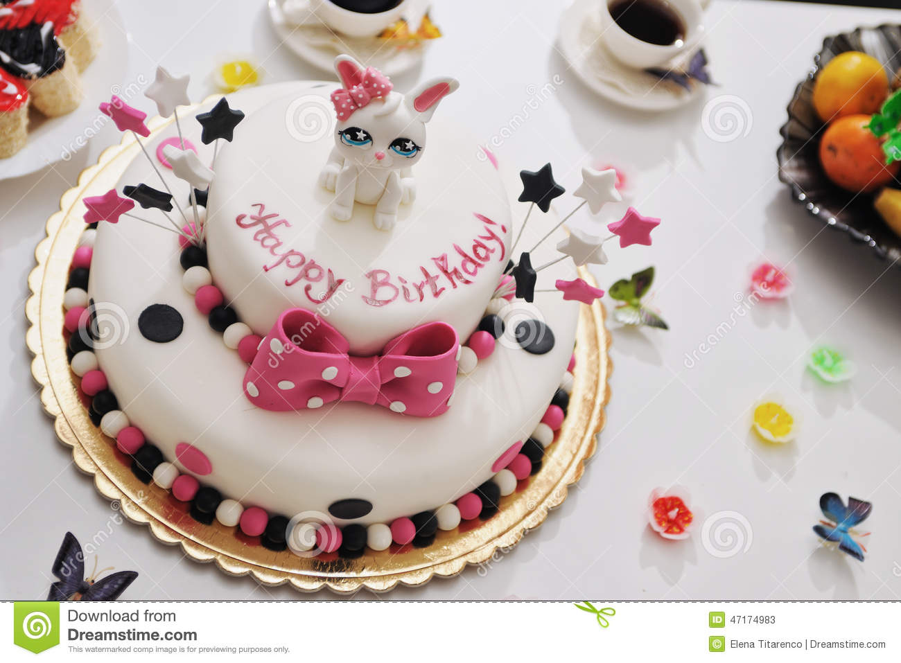 Happy Birthday Cake Stock Photo - Image: 47174983