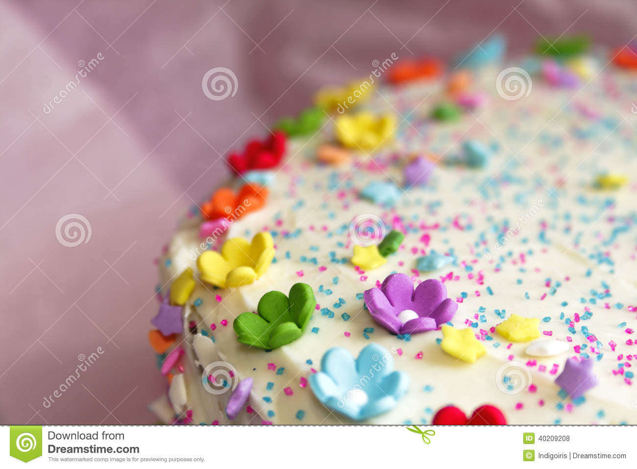 Happy Birthday Cake Stock Photo Image Of Sugar Cake 40209208