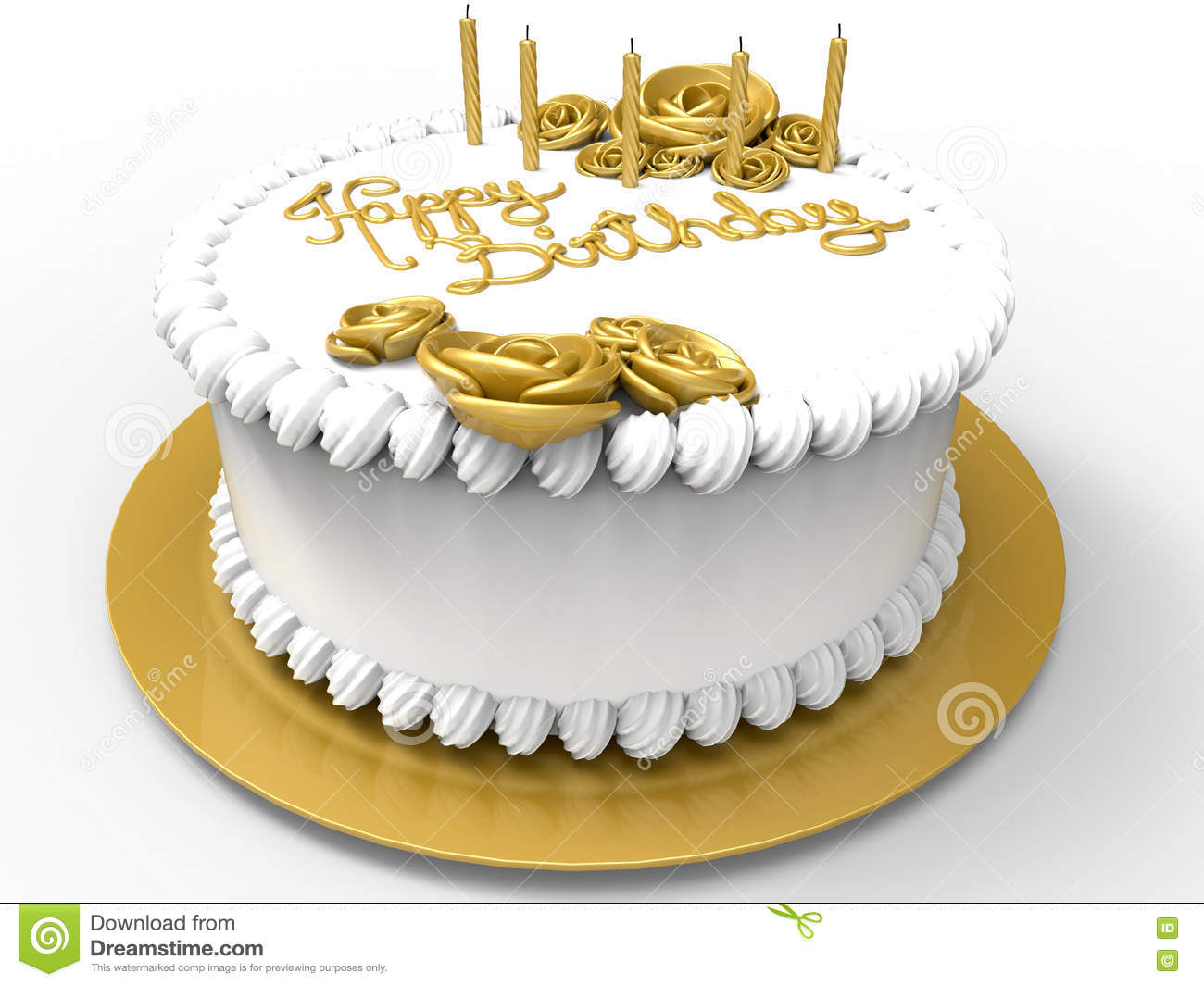 Happy Birthday Cake Stock Illustration Illustration Of White 76487449