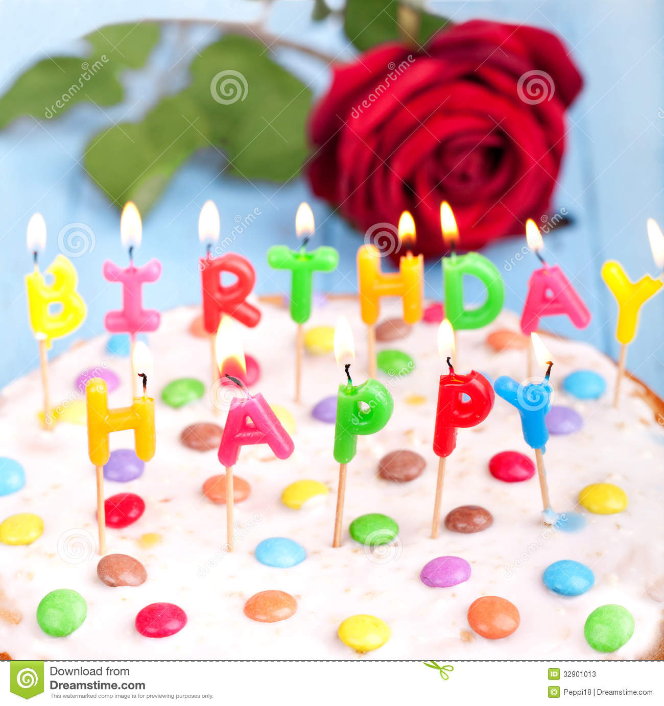 Happy Birthday Cake Stock Image Image Of Background 32901013