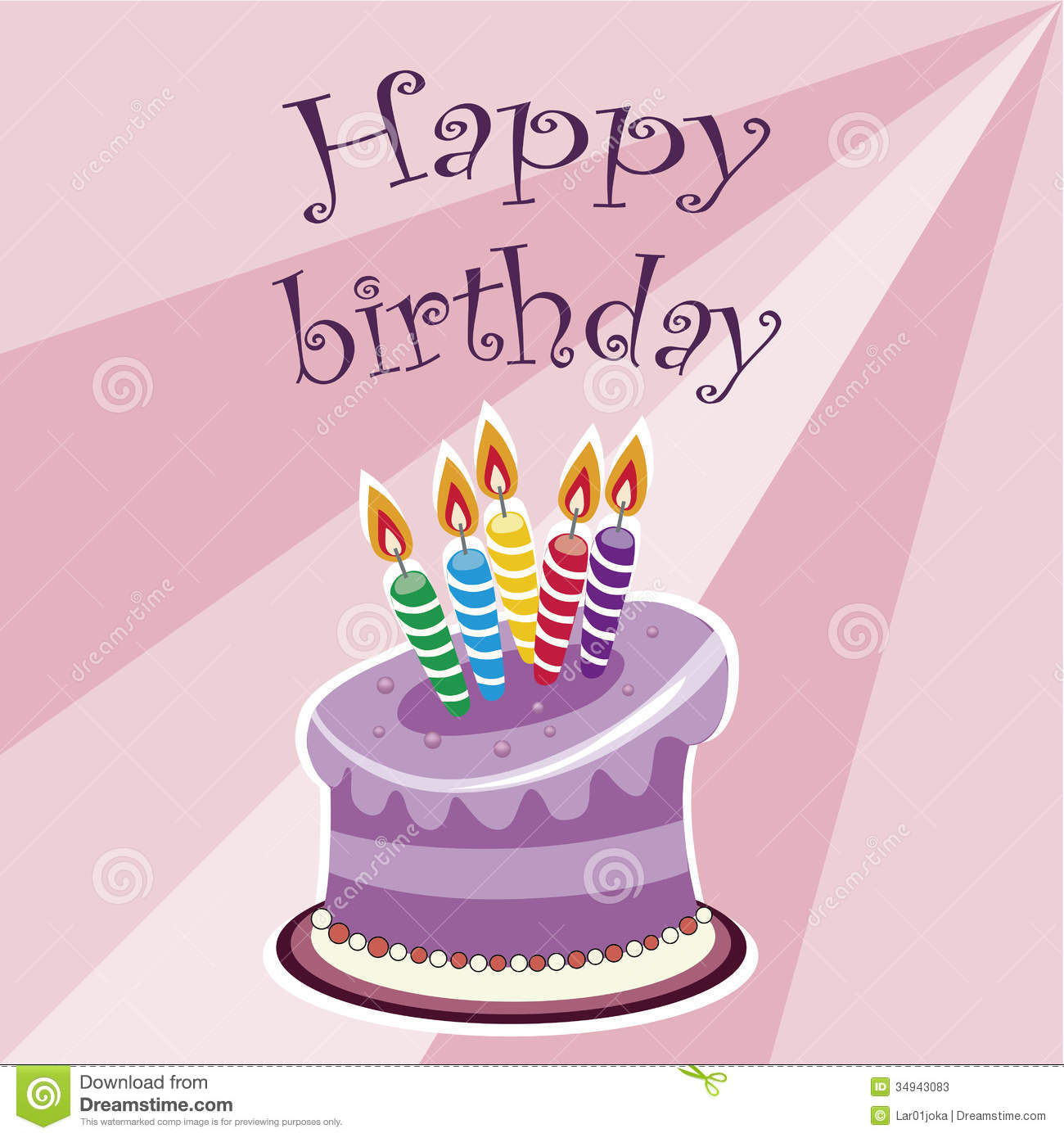 Happy Birthday With Cake Stock Vector Illustration Of Goods 34943083