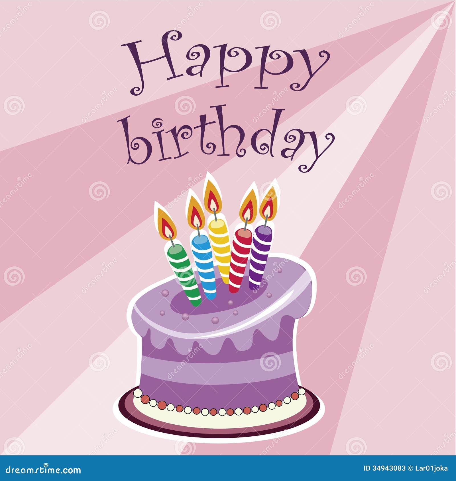 Happy Birthday With Cake Stock Photos