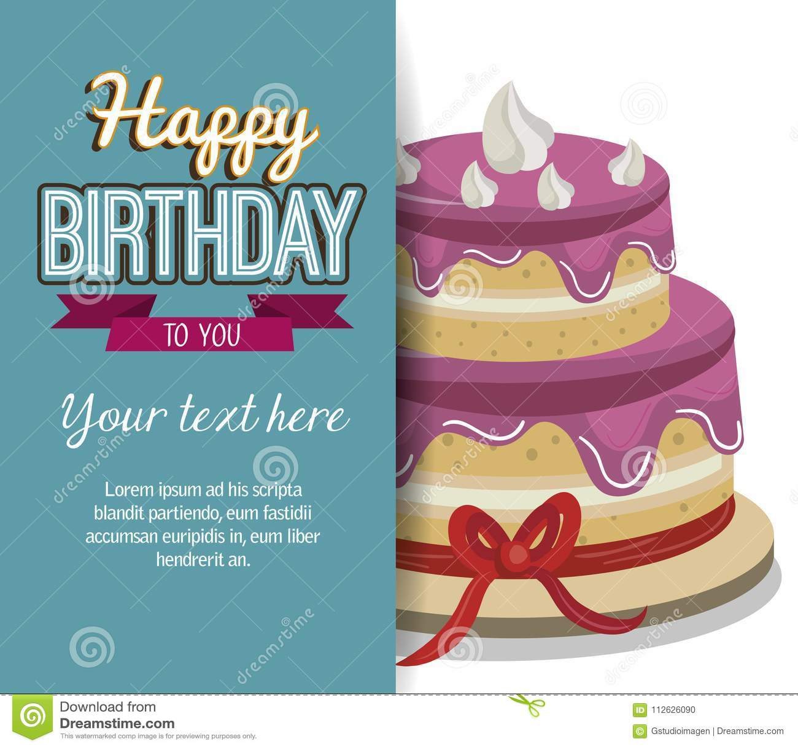 Happy Birthday Cake Isolated Icon Design Vector Illustration Graphic