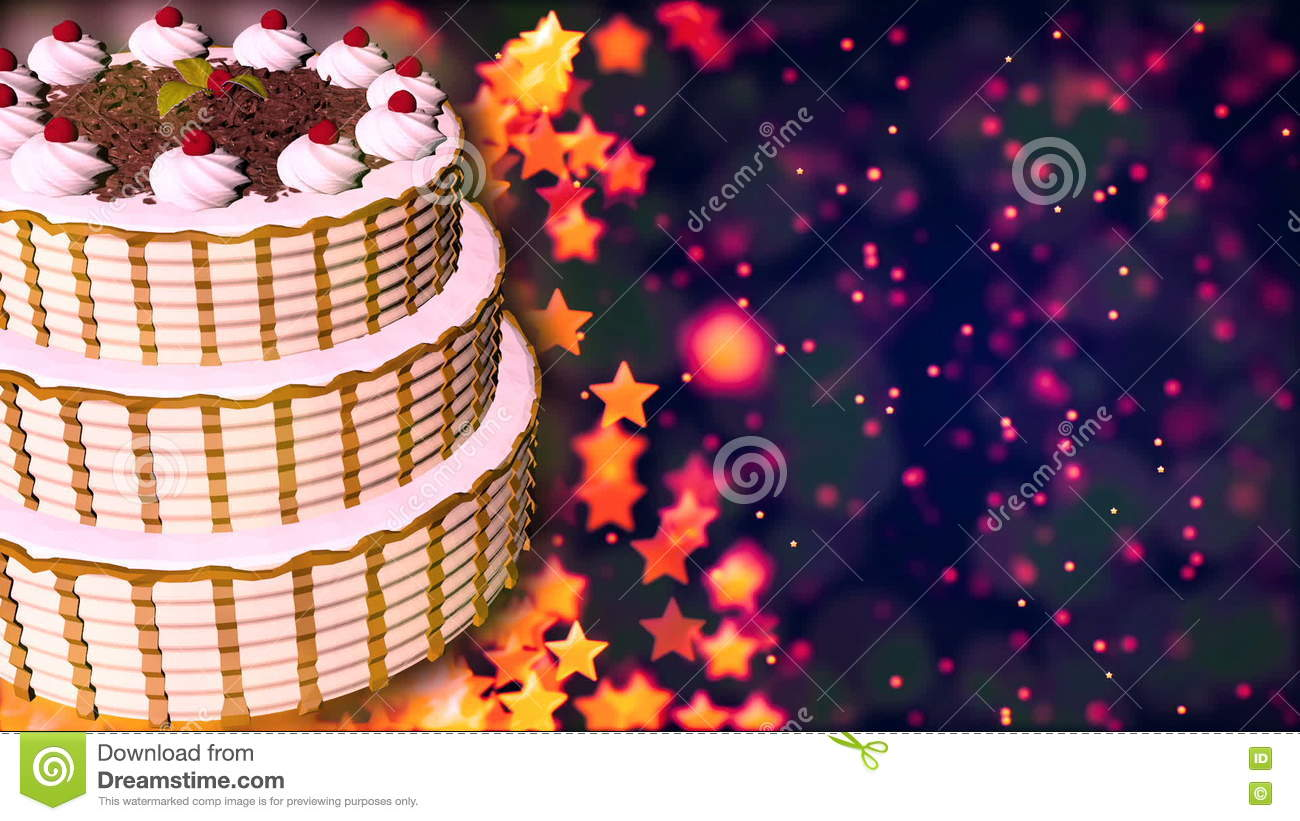 Surprising Happy Birthday Cake Loopable Abstract Background Stock Video Personalised Birthday Cards Beptaeletsinfo