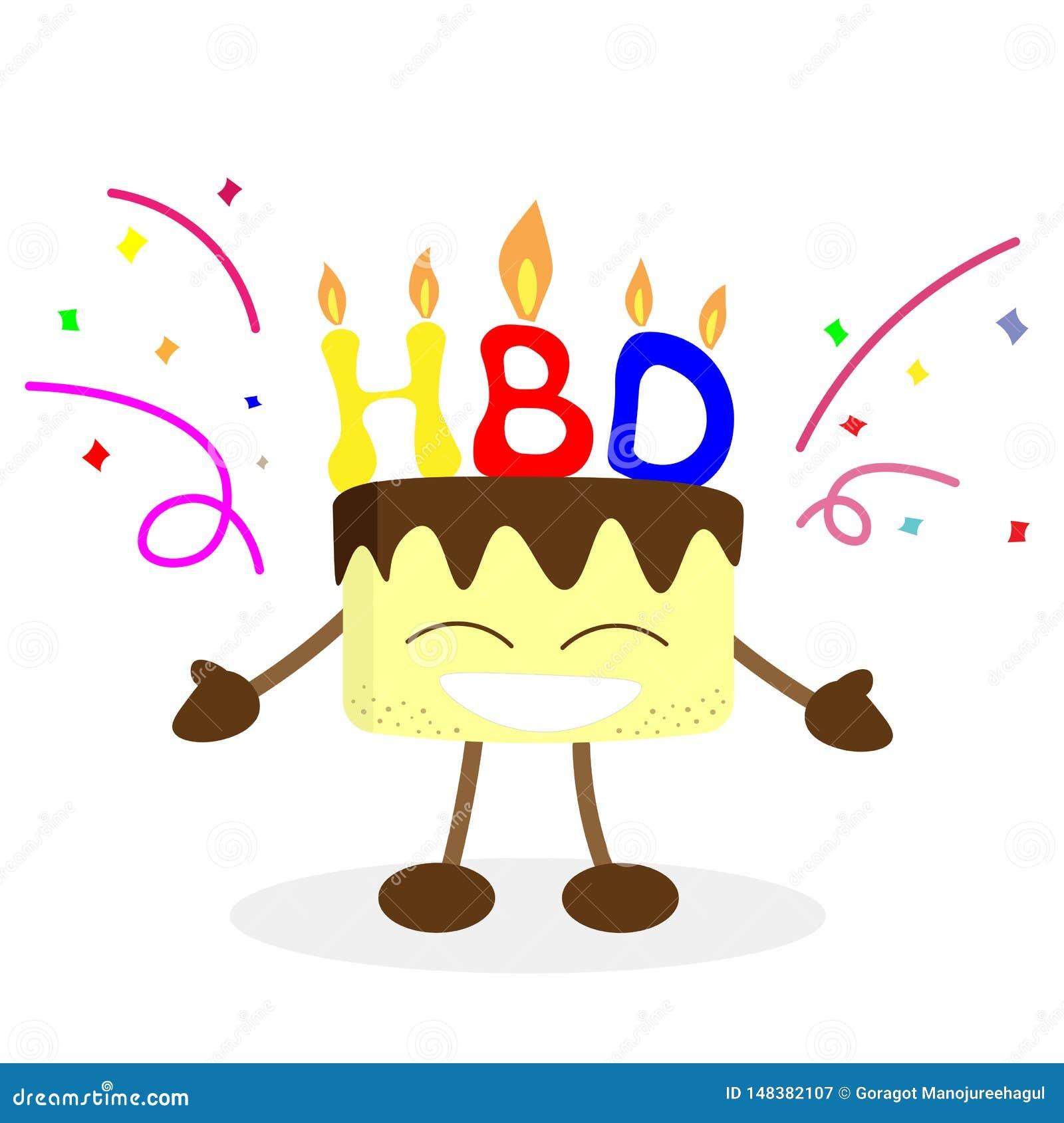 Tremendous Happy Birthday And Cake Man Vector Stock Vector Illustration Of Birthday Cards Printable Giouspongecafe Filternl