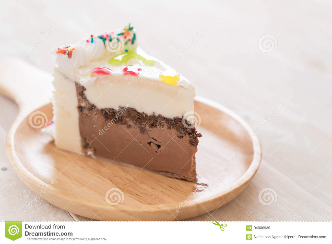 Happy Birthday Cake On Table Stock Image Image Of Celebration
