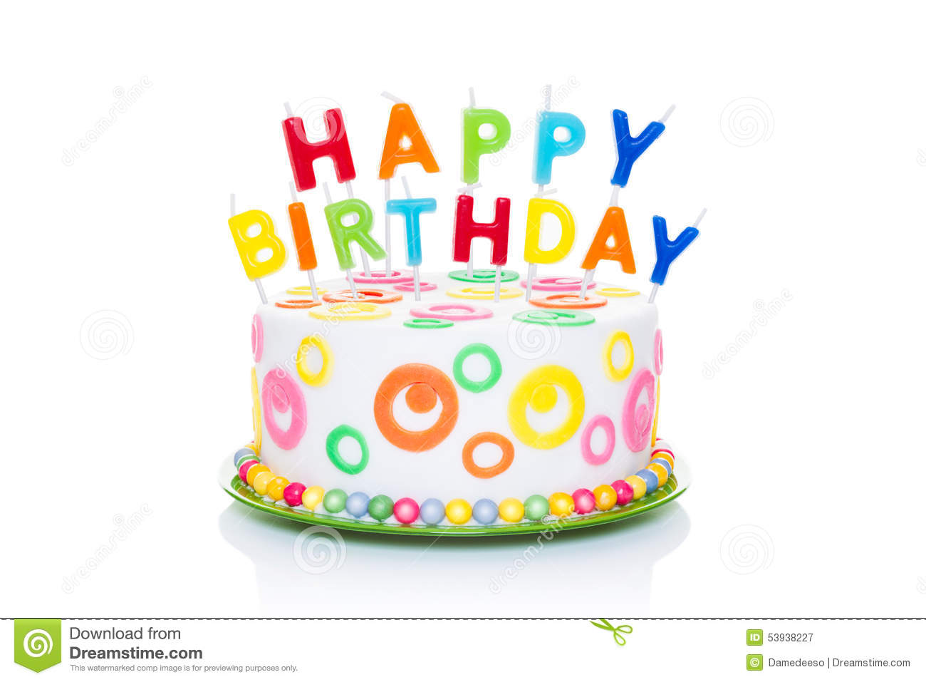 Happy birthday cake stock image. Image of coating, food - 53938227