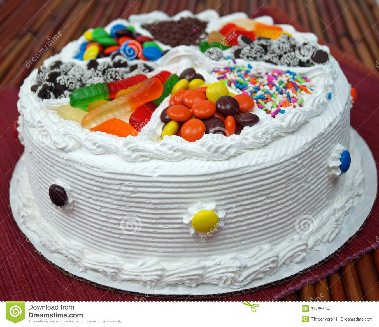 Decorated Birthday Cake Stock Images Image 37785674
