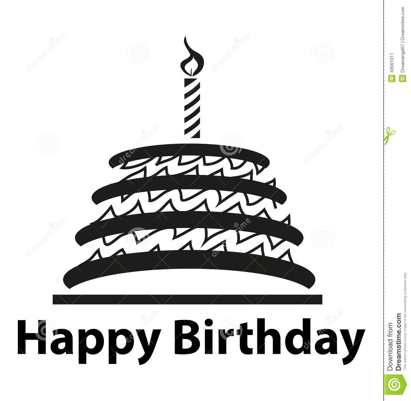 Happy Birthday Cake Stock Vector Illustration Of Design 43561011