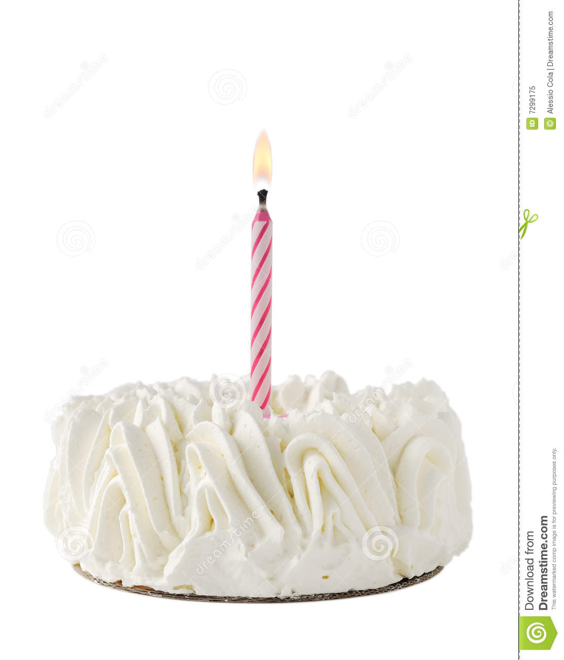 Happy Birthday Cake whit one pink candle