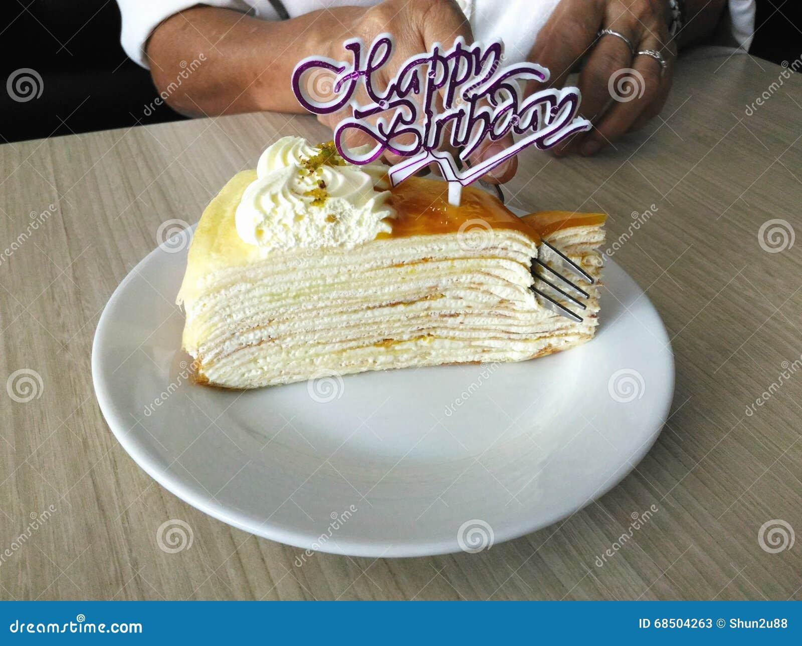 Happy Birthday Cake Stock Image Image Of Festive Sugar 68504263