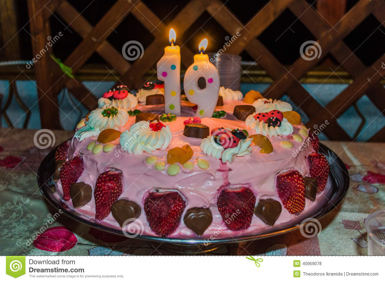Happy Birthday Stock Photo Image Of Home Fresh Cake 40959078