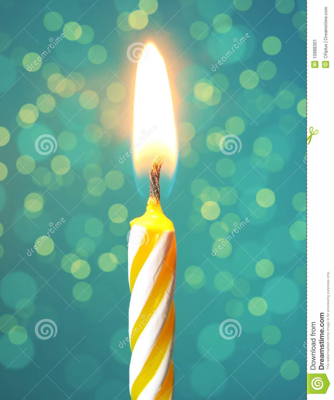 Happy Birthday Candle Stock Image - Image: 10988301