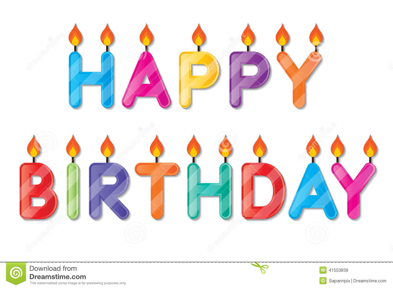 Happy Birthday Candle Stock Vector Illustration Of