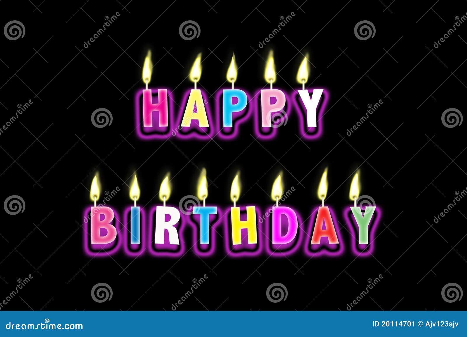 Happy Birthday Candles Animated Happy Birthday Candles Stock