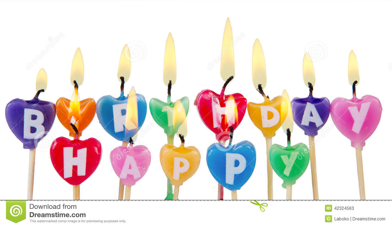 Happy Birthday Candles Stock Image Of Decorated