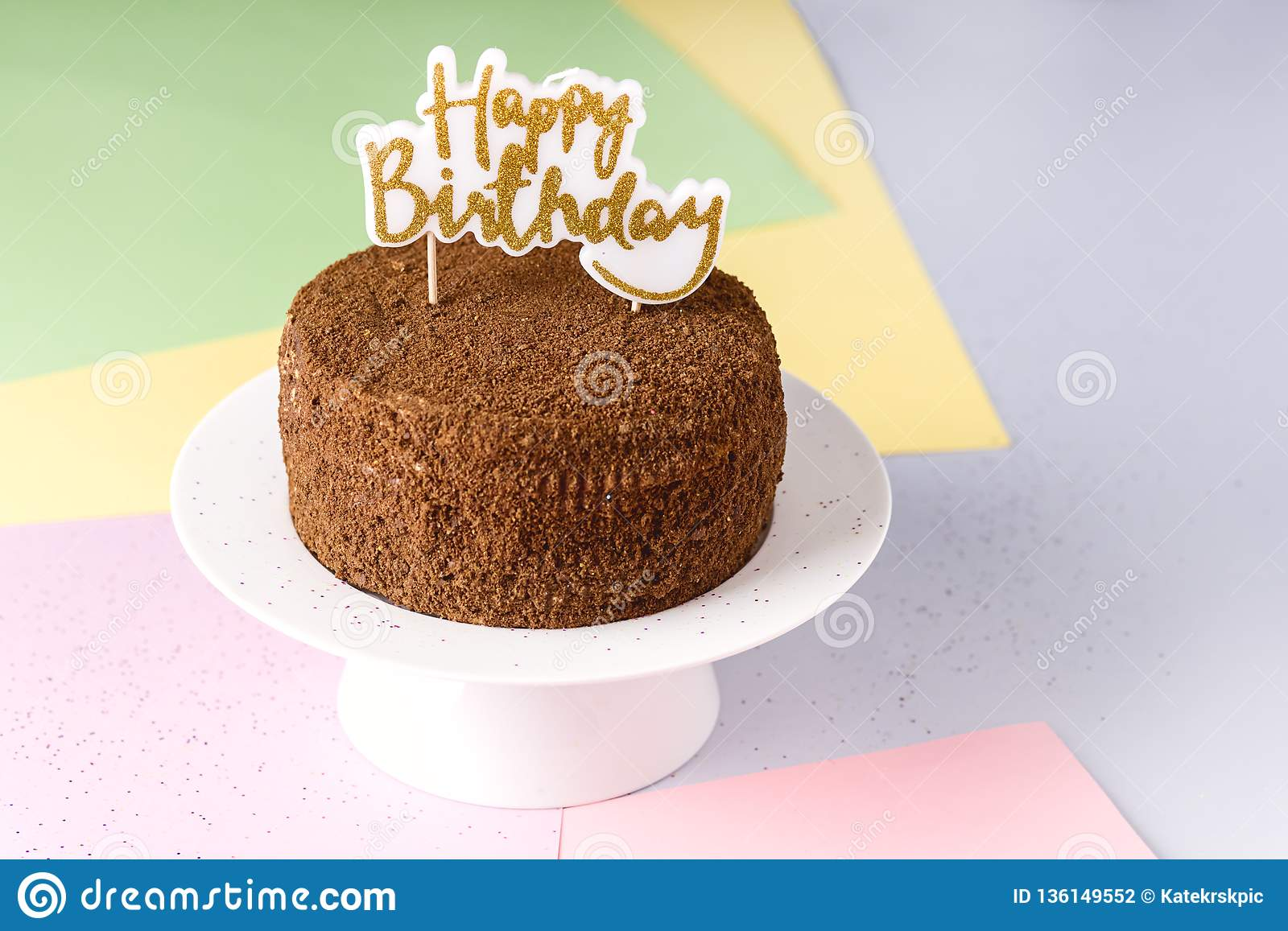 Excellent Happy Birthday Candles On Chocolate Cake Tasty Chocolate Homemade Funny Birthday Cards Online Fluifree Goldxyz