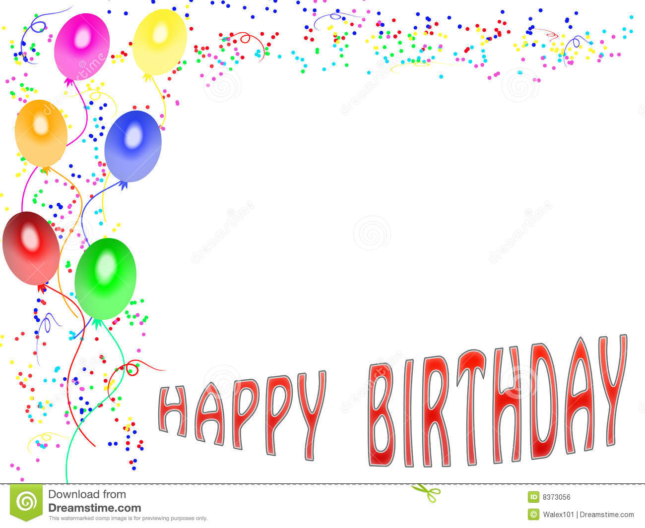 Happy Birthday Card 01 Royalty Free Image Image 8373056 – Download Free Birthday Cards