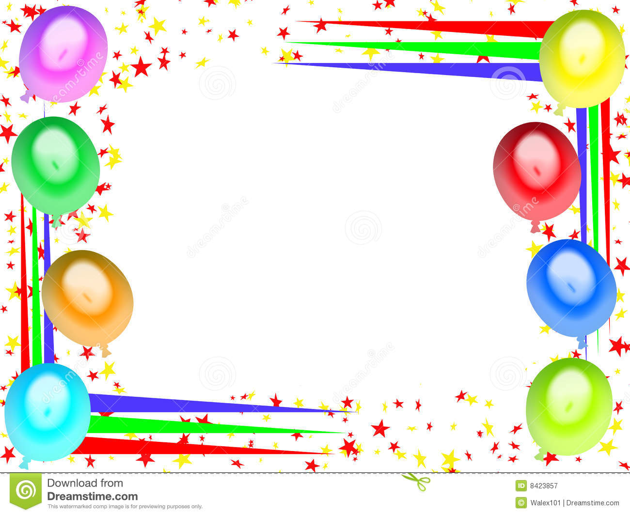 Royalty Free Stock Photography Happy Birthday Card 06 Image8423857 on Kids Happy Birthday Transparent Frame