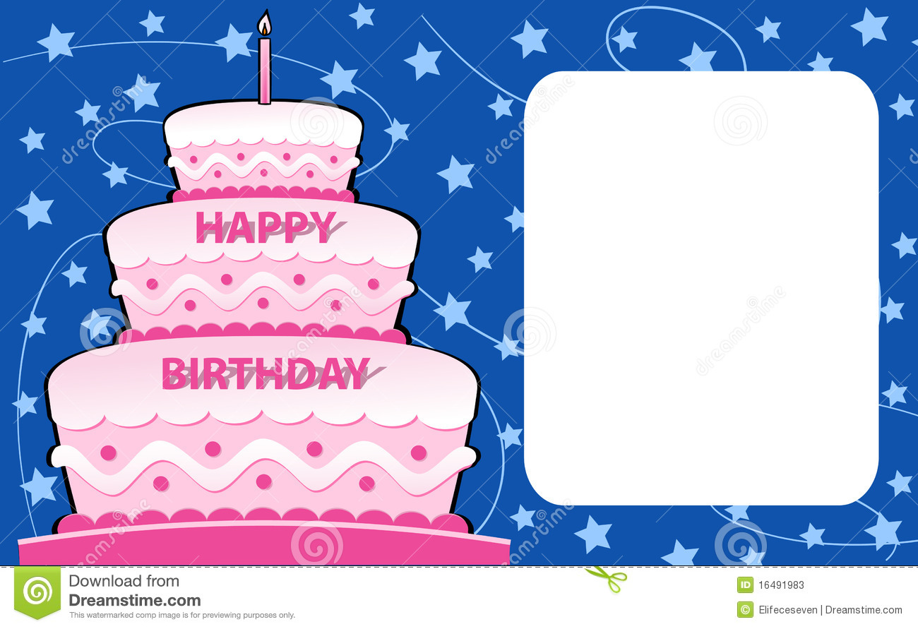 Happy birthday card stock vector illustration of announcement happy birthday card bookmarktalkfo Image collections