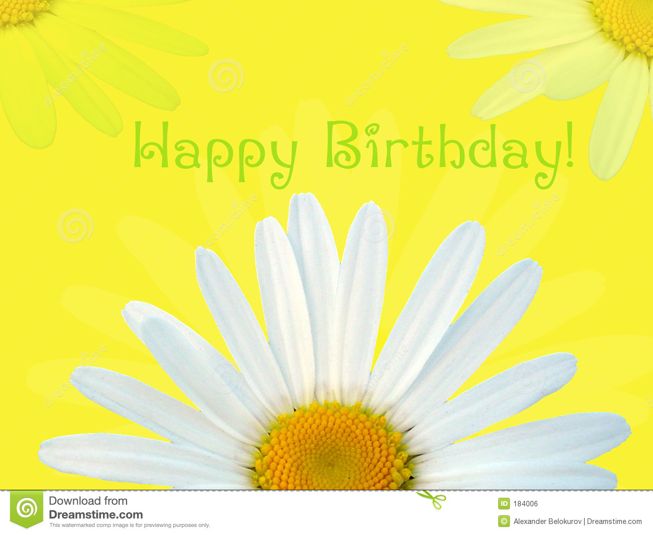 Happy Birthday Card Royalty Free Stock Image Image 184006