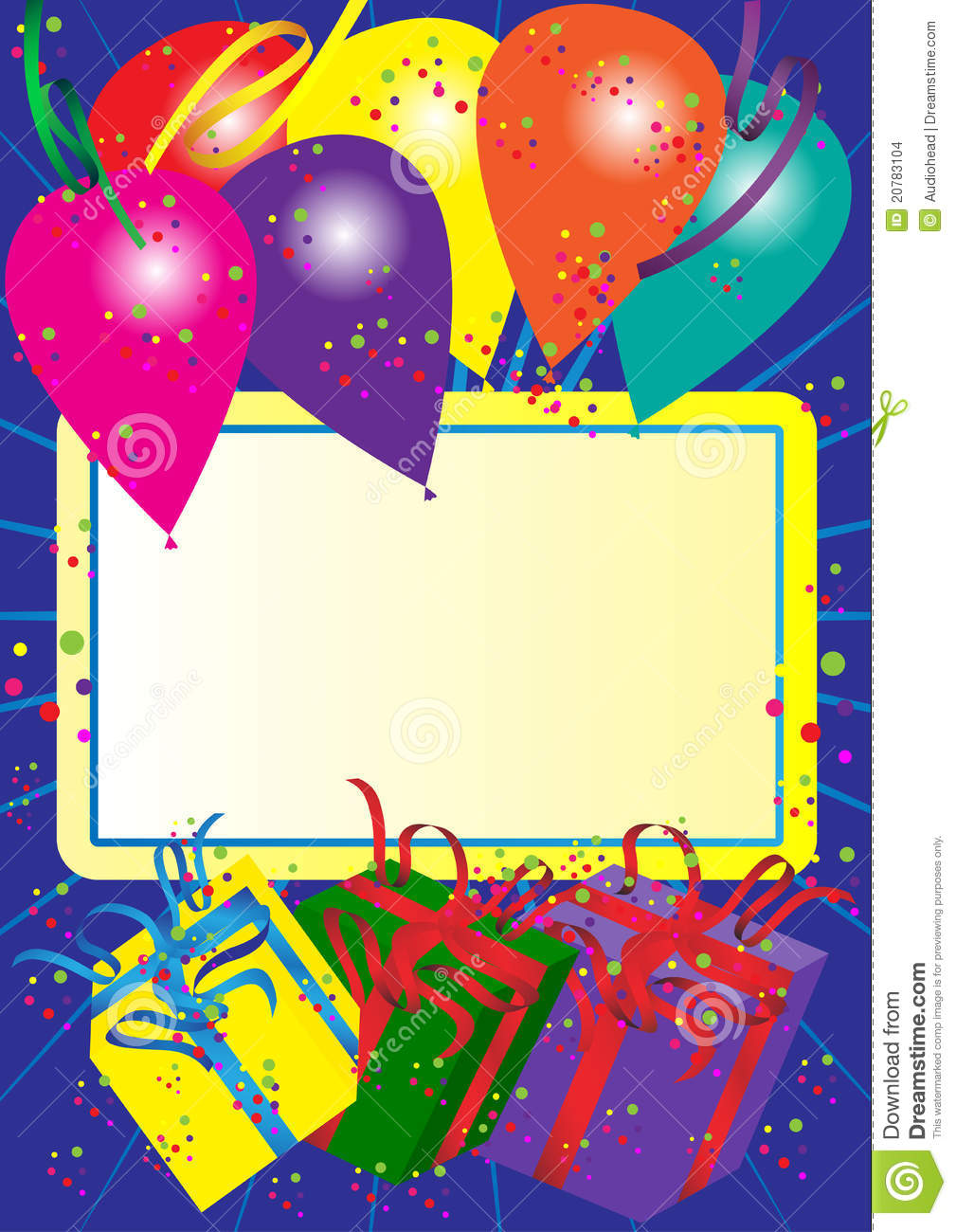 Happy Birthday Card Stock Vector Illustration Of Card 20783104