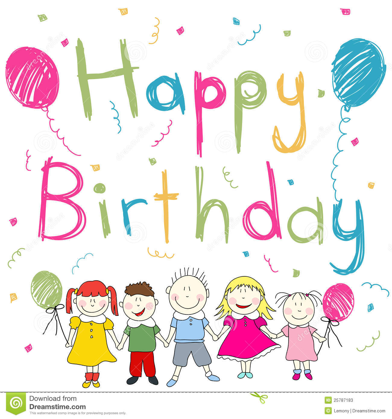 Happy Birthday card stock vector Illustration of love 25787183