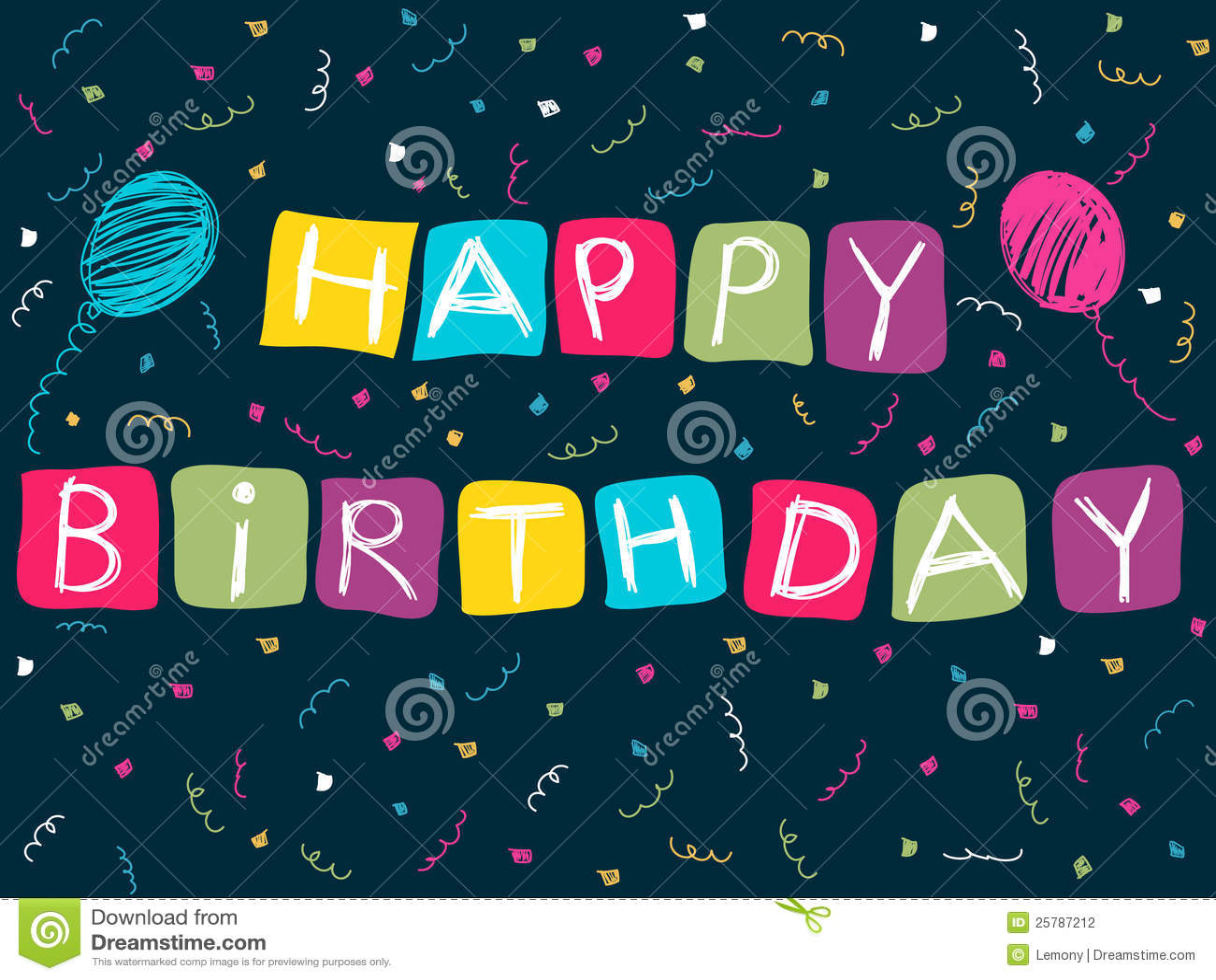 Happy birthday card stock vector illustration of pink 25787212 happy birthday card bookmarktalkfo Images