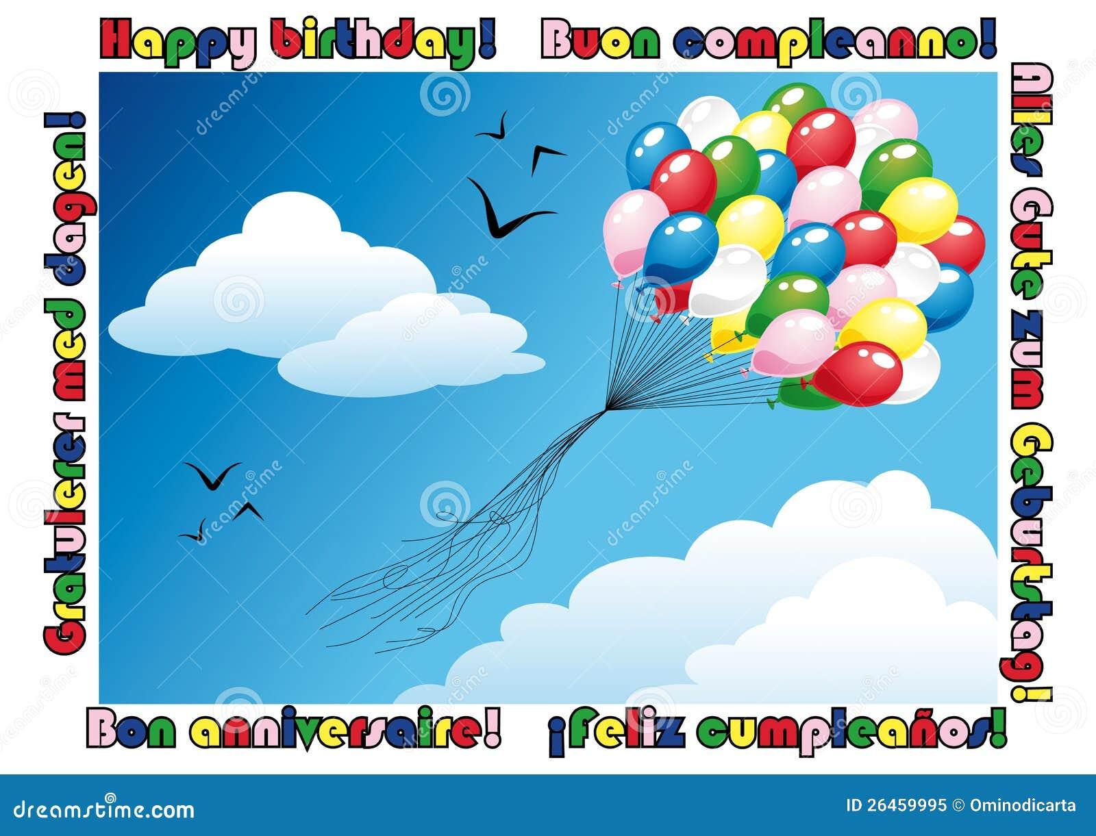 italian birthday stock illustrations   italian birthday stock, Birthday card