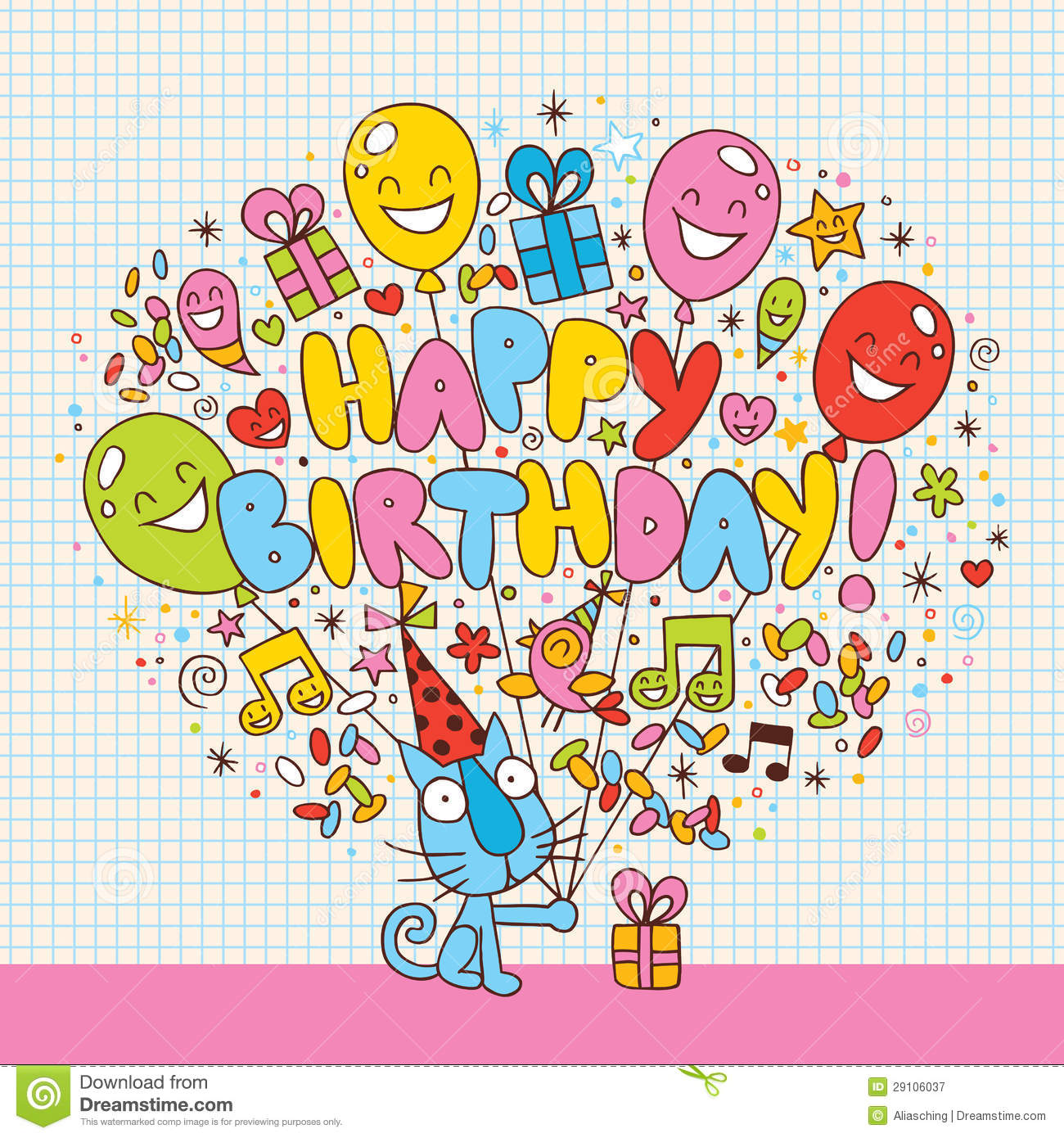 Happy Birthday Card Royalty Free Stock Photography - Image ...