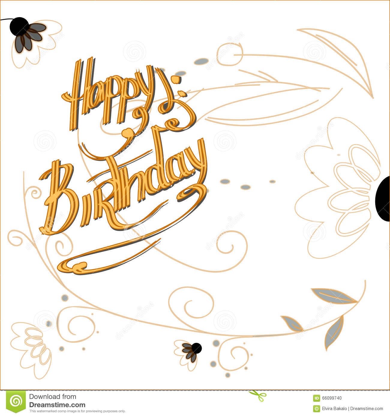 Happy Birthday Card Stock Vector Illustration Of Package