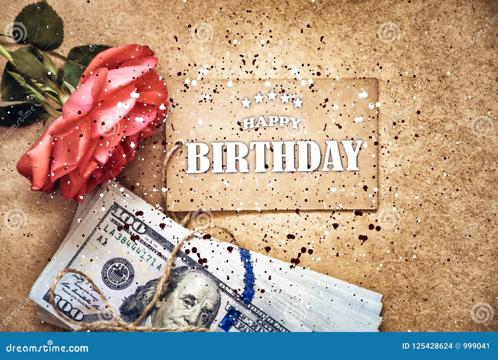 Happy birthday card  stock photo  Image of birthday - 125428624